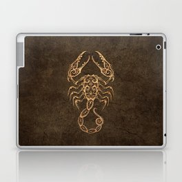 Vintage Rustic Scorpio Zodiac Sign Laptop & iPad Skin