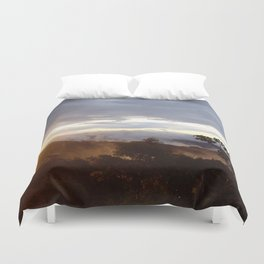 Sunset over the jungle in Costa RIca Duvet Cover