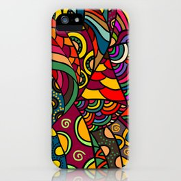 African Style No13, Tribal dance iPhone Case
