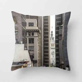 Embarcadero from Chinatown Throw Pillow