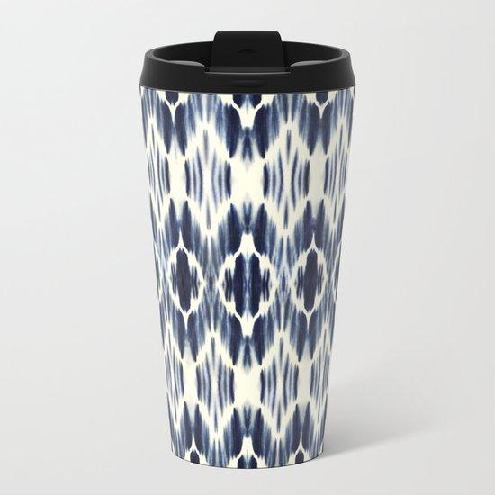 BOHEME INDIGO BLUE Metal Travel Mug