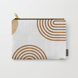 Jazzy Afternoon - Minimal Geometric Abstract - White 2 Carry-All Pouch