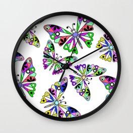 Butterflies, summer Wall Clock