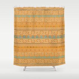 Meander Pattern - Greek Key Ornament #5 Shower Curtain