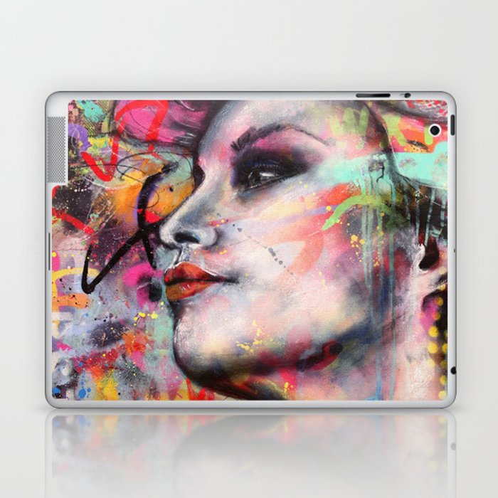 Urban-Girl Original Painting Laptop & iPad Skin