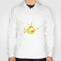 yellow submarine Hoodies featuring Baby's yellow submarine by La Bella Leonera