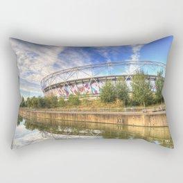 West Ham Olympic Stadium And The Arcelormittal Orbit  Rectangular Pillow