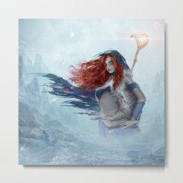 Freya the Shaman Official Art from Nordic Warriors Metal Print
