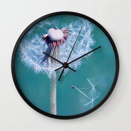 Dandelion blue 291 Wall Clock