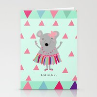 hawaii Stationery Cards featuring hawaii by Sucoco