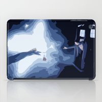 river song iPad Cases featuring The Doctor and River Song by Laura