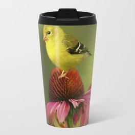Puff Ball of a Goldfinch Travel Mug