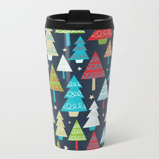 Christmas Trees Metal Travel Mug