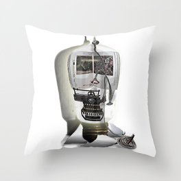 Tie down the story Throw Pillow