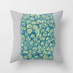 The Many Faces Of... Throw Pillow