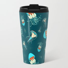Flow jellyfishes Travel Mug