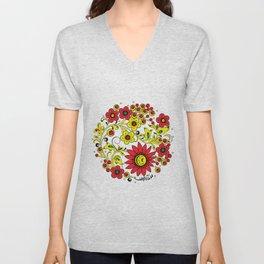 Floral hohloma Unisex V-Neck