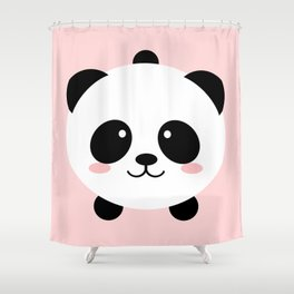 Lovely kawai panda bear Shower Curtain