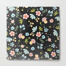 Flower Bed Black Version Metal Print