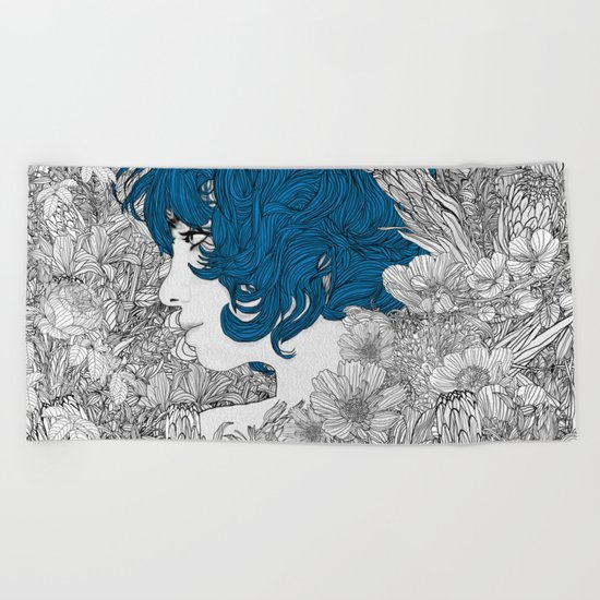 Rhapsody in Blue Beach Towel