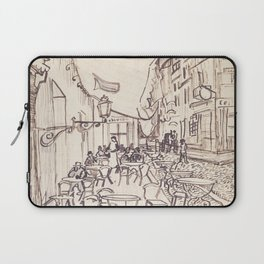 Cafe Terrace at Night (sketch) Laptop Sleeve