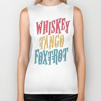 whiskey Biker Tanks featuring Whiskey Tango by northside
