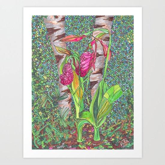 Lady Slippers Art Print