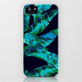 Tropical addiction - midnight grunge iPhone Case