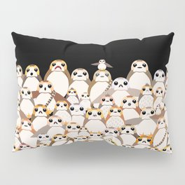 Galatic Penguins on Black Pillow Sham