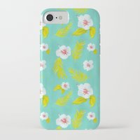 hibiscus iPhone & iPod Cases featuring Hibiscus by Maya Bee Illustrations