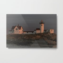 Eastern Point Lighthouse at sunset Metal Print
