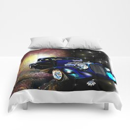Hot Rods In Space Comforters