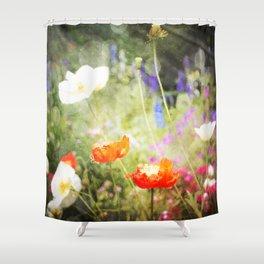Magic Poppies Shower Curtain
