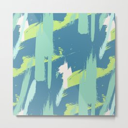 Green expressive Metal Print