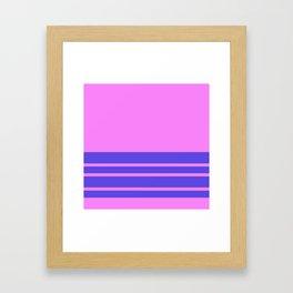 Violet Slate Stripes Blue Wall Framed Art Print