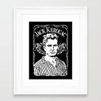 kerouac Framed Art Prints featuring Jack Kerouac by Josep M. Maya