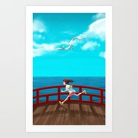 spirited away Art Prints featuring Spirited Away by IllustrateKate