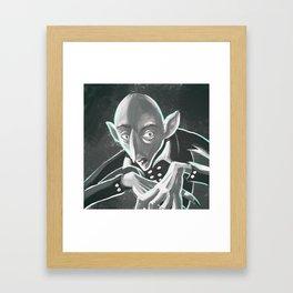 creepy spooky nosferatu Framed Art Print