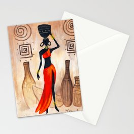 African red Stationery Cards
