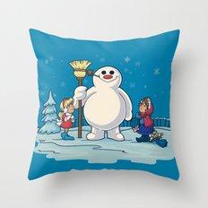 Let's Build a Snowman! Throw Pillow