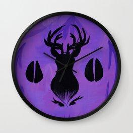 Deer Head 1 Wall Clock
