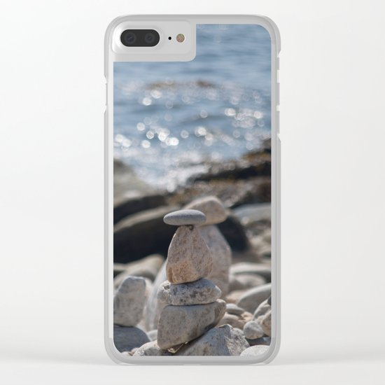 Balancing Serenity Rocks Clear iPhone Case