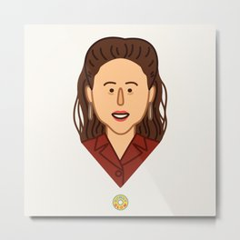Elaine Benes - Seinfeld Illustration Metal Print