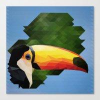toucan Canvas Prints featuring toucan by gazonula