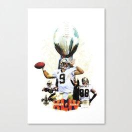 Super New Orleans Saints NFL Football Canvas Print