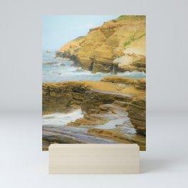 Coastal California Cliffs  by Reay of Light Photography Mini Art Print
