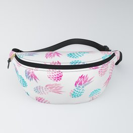 Modern summer tropical pineapple watercolor illustration pattern Fanny Pack
