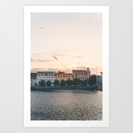 Danish Sunset Art Print