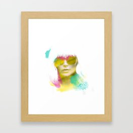 Atomic Blonde Water Color Framed Art Print