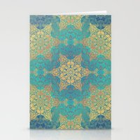henna Stationery Cards featuring Blue Henna by Truly Juel